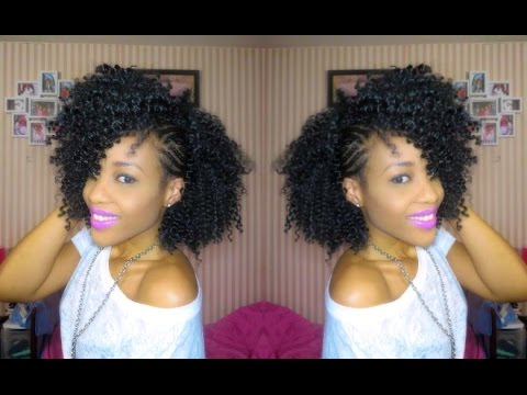 inspired braided side mohawk natural