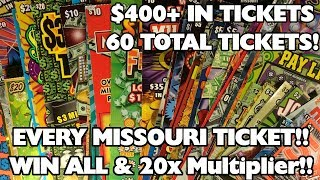 PROFIT!! - BIG WINS!!! - EVERY SCRATCHER IN MO LOTTO! - $400+ IN TICKETS - PROFIT!!