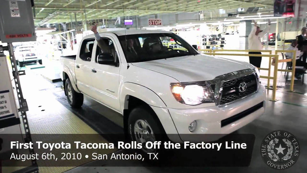 First Toyota Ta a Rolls f the Factory Line