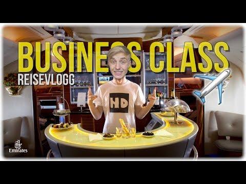 BUSINESS CLASS på EMIRATES!✈️- Reisevlogg