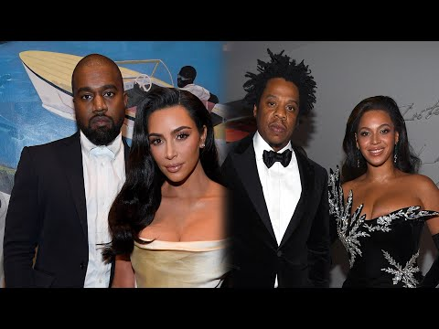 Kim Kardashian And Kanye West Reunite With Beyonce And JAY-Z At Diddy's 50th Birthday Bash