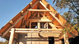 Building Off Grid LOG CABIN / Closing the A-Frame 2  (S 2 Ep 16)