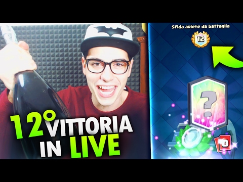 VINCO la NUOVA SFIDA in LIVE !!! LEGGENDARIA nel Baule ! Clash Royale