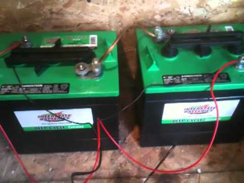 36 Volt Golf Cart Wiring Diagram Deep Cycle Batteries With 40watt Solar Panel Youtube