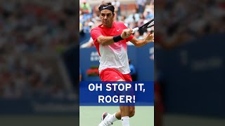 Is there anything Roger Federer can't do?? 🙌