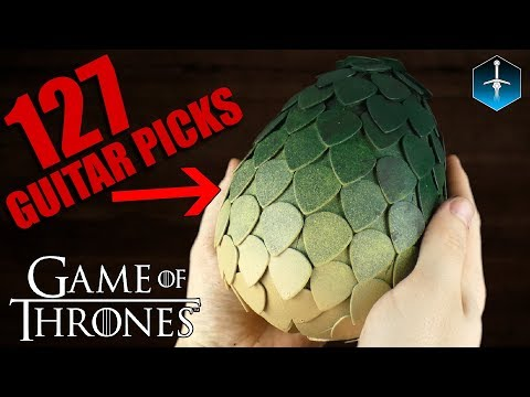 DIY Guitar Pick Dragon Egg - Game of Thrones (Time Lapse)