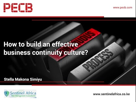 How to build an effective business continuity culture?