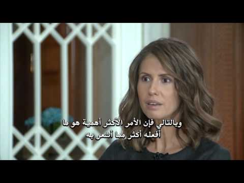 SYRIA'S FIRST LADY Asma al-Assad interview with Russian TV