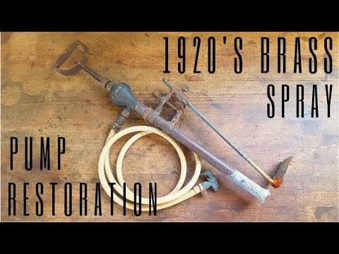 1920's Brass Spray Pump Restoration