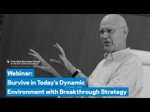 Survive in Today's Dynamic Environment with Breakthrough Strategy