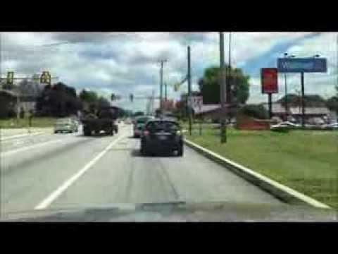 Driving Thru Chambersburg, Pa On Route 30