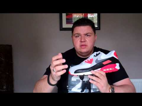 Nike Air Max 90 Infrared OG 25th Anniversary Release 725233 106 On Feet Sneaker Review