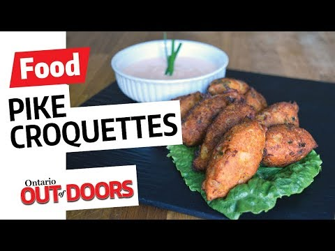 Pike croquettes with spicy dipping sauce recipe