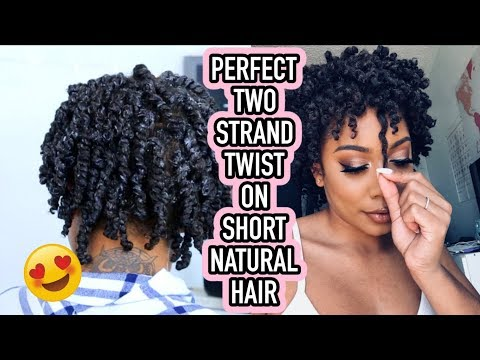 PERFECT TWO STRAND TWISTS ON SHORT NATURAL HAIR!