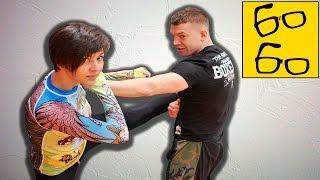 Сбивы и подсечки в K-1 — защита от ударов и выведение соперника из равновесия c Юрием Караваевым
