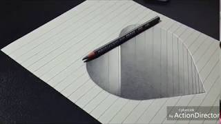 Draw Simple 3D Heart Shape on paper | Easy 3D Drawings for Kids | by Just Do It.