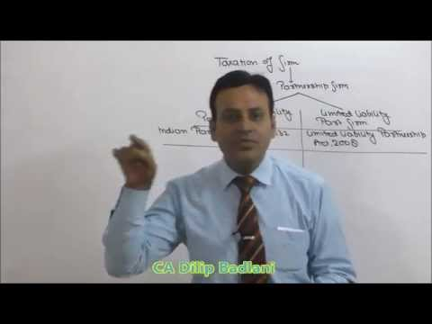 CA : Final / CS / CMA : Direct Tax : AY 16-17 : Assessment of Firms : Lecture 1