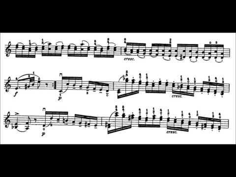 Niccolò Paganini - Caprice for Solo Violin, Op. 1 No. 18 (Sheet Music)