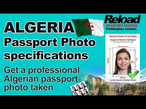 Algerian Passport Photo Specifications And Visa Photos Algeria In London
