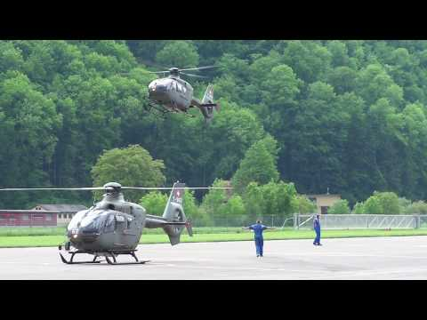 Swiss Air Force: 20 helicopters in the air (Alpnach, Switzerland)