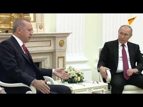 Putin ve Erdoğan'dan 2019'un ilk yüz yüze görüşmesi