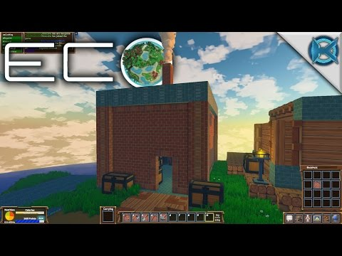 Eco | Finishing The Roof | Let's Play Eco Gameplay | S01E21