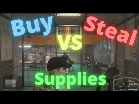 GTA V Online: Buying Supplies or Stealing Them For Your Business
