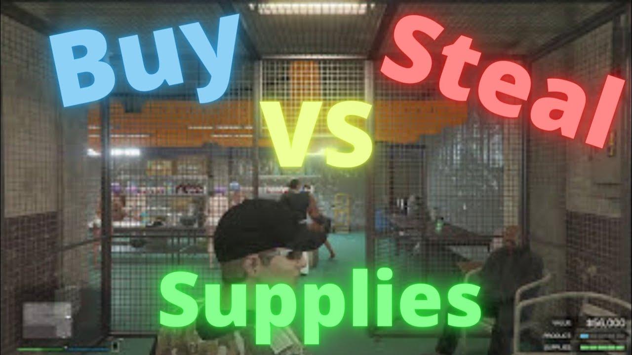 gta5 do you make money buying supplies in bunker