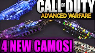 Call of Duty Advanced Warfare ALL 4 NEW CAMO'S X-RAY/JACKPOT/DISCO/ACES DLC Guns Camo (AW Gameplay)