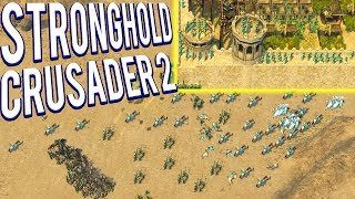 BUILDING AND ASSAULTING MASSIVE CASTLES! STRONGHOLD CRUSADER GAMEPLAY
