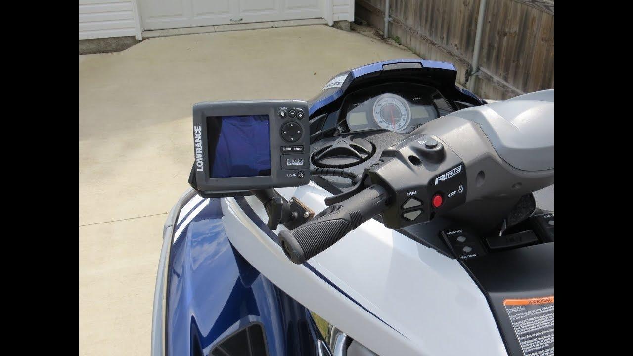 Yamaha FX PWC Jet Ski GPS Fish Finder Install  Stern