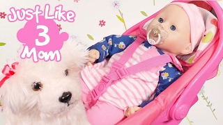 Video for girls.  Just Like Mom #3. Nappies Changing. Games for girls with  baby Annabell doll.