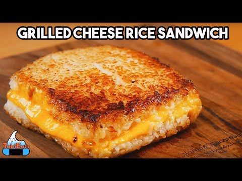 How to Make Grilled Cheese Rice Burger (Recipe) - YouTube