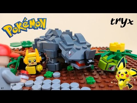 Lego Pokemon Brick-Figures Rhyhorn,Pichu and Ivysaur!