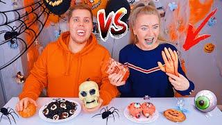 Обычная еда Против ХЭЛЛОУИН ЕДЫ ЧЕЛЛЕНДЖ 🕷️ Halloween Food vs Real Food Challenge
