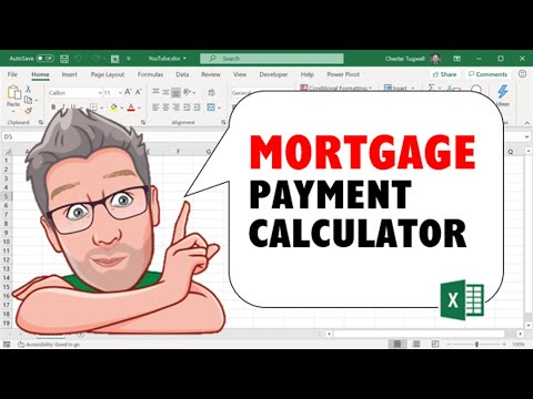 Home Mortgage Payment Calculator Using An Excel Spreadsheet  Youtube