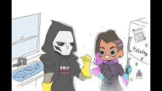 Sombra does the dishes [ Overwatch comic]