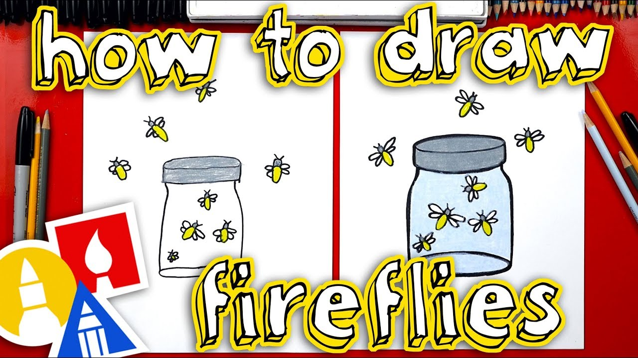 Firefly Jar Art How To Draw Fireflies In A Jar