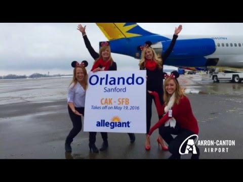 CAK Announces Nonstop Service to Orlando Aboard Allegiant Air