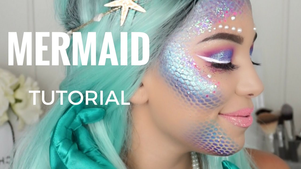 MERMAID MAKEUP | HALLOWEEN TUTORIAL | monicarosemua - YouTube