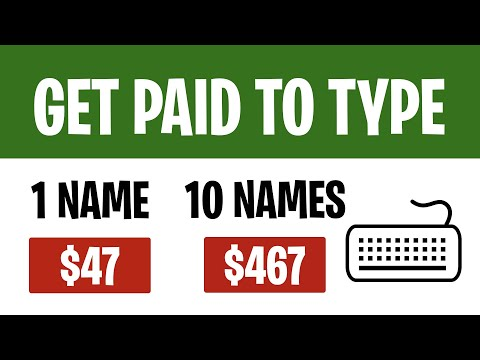 Earn $467 For TYPING NAMES (Easy Typing Jobs 2021) | Make Money Online