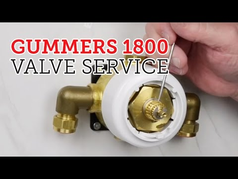 How to service Gummers 1800 style shower valve. - YouTube