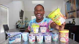 Trying WEIRD FLAVORED Ice Creams | Sour Patch Kids | TASTE TEST | Alonzo Lerone