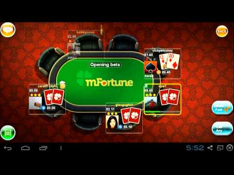 Texas Hold'Em Poker - MFortune Mobile Casino Exclusive Card Game