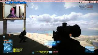 BF3 (PC) Sniper C4 Shot on Transport Chopper for Double Kill