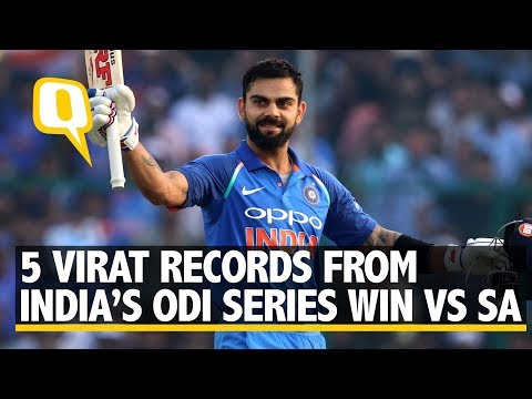 5 Virat Kohli Records From India's ODI Series Win vs South Africa | The Quint