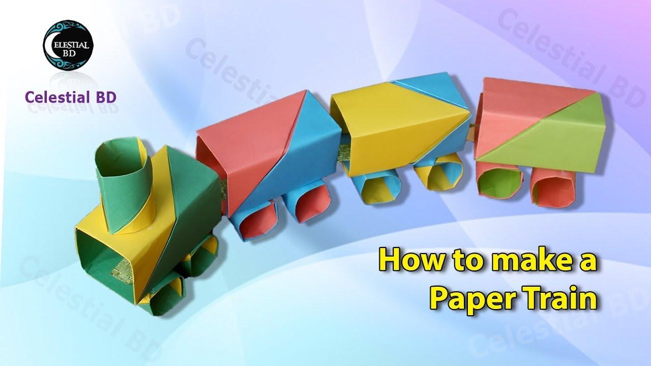 origami train how to make a paper origami train