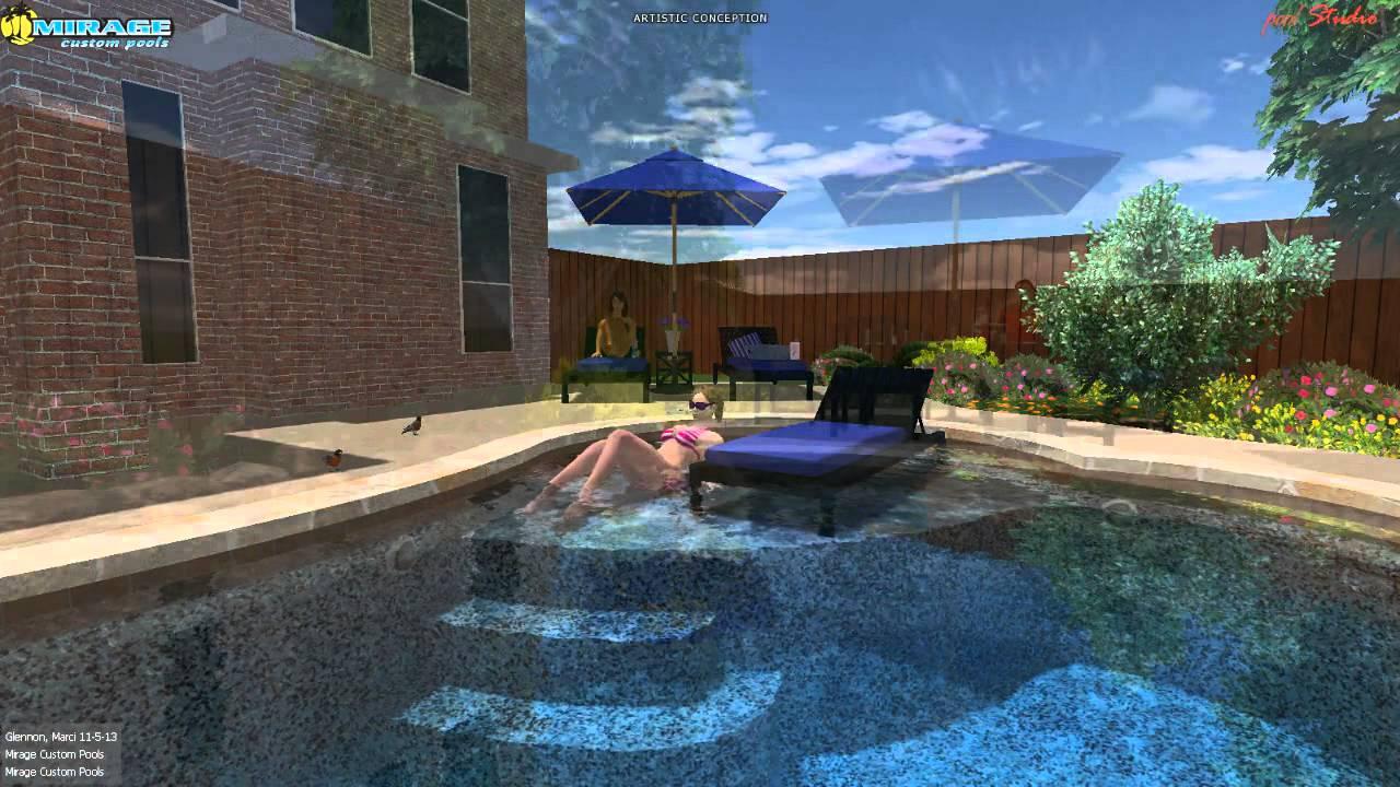 Mirage Custom Pools Shaddock Homes Phillips Creek Ranch Frisco Tx