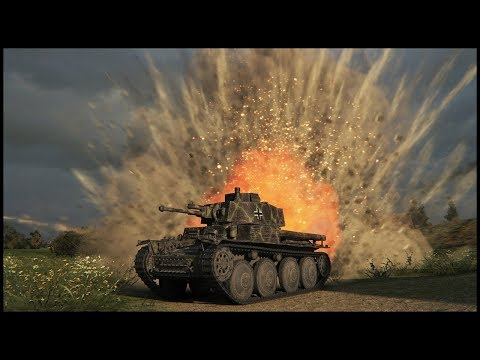 Pz.Kpfw. 38 (t) - 1 Vs 10 - 11 Kills - World Of Tanks: Pz. 38 (t) Gameplay