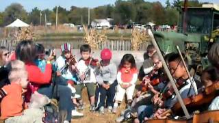 Suzuki Violin plays on the hay ride at Circle S Farms in Ohio